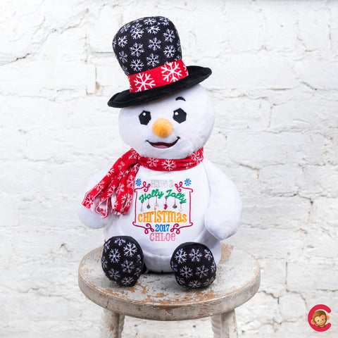 Christmas Snowman Personalised Christmas Cubby