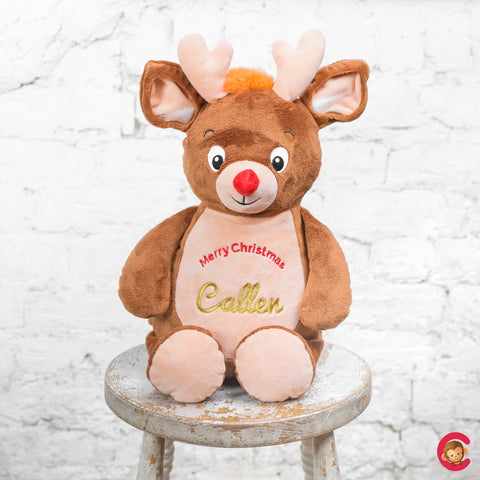 Christmas Deer Personalised Christmas Cubby