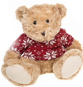 Milli Moo Xmas Small Teddy Bear Red Sweater