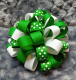 Boutique Hair Bow Puff Mini - St. Patrick's Day