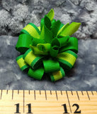 Flower Loop Stacked Hair Bow -St. Patrick's Day