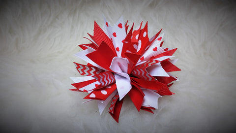 Boutique Burst Hair Bow - Valentine