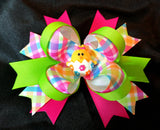 Boutique Stacked Hair Bow - Easter