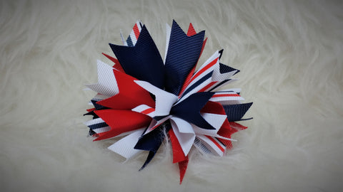 Boutique Burst Spiked Hair Bow - 4th of July