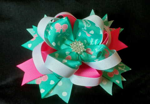 Boutique Double Stacked Hair Bow