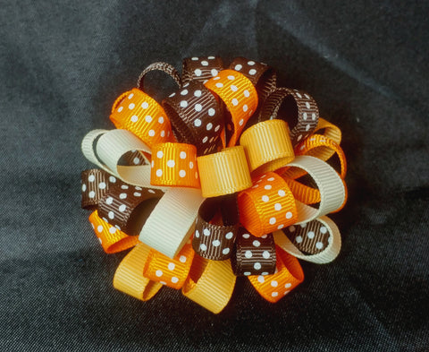 Boutique Hair Bow Puff - Thanksgiving