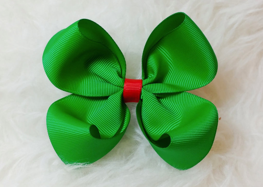 Basic Boutique Hair Bow - Christmas