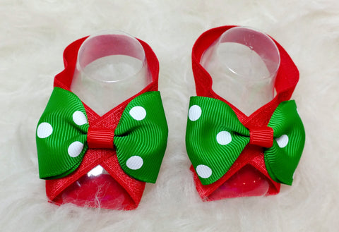 Barefoot Baby Sandals - Christmas