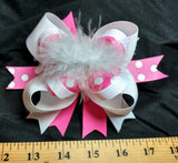 Boutique Stacked  Hair Bow Over the Top