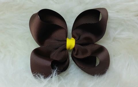 Basic Boutique Hair Bow _ Thanksgiving