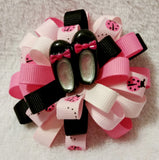 Flower Loop Stacked Hair Bow Set of Two