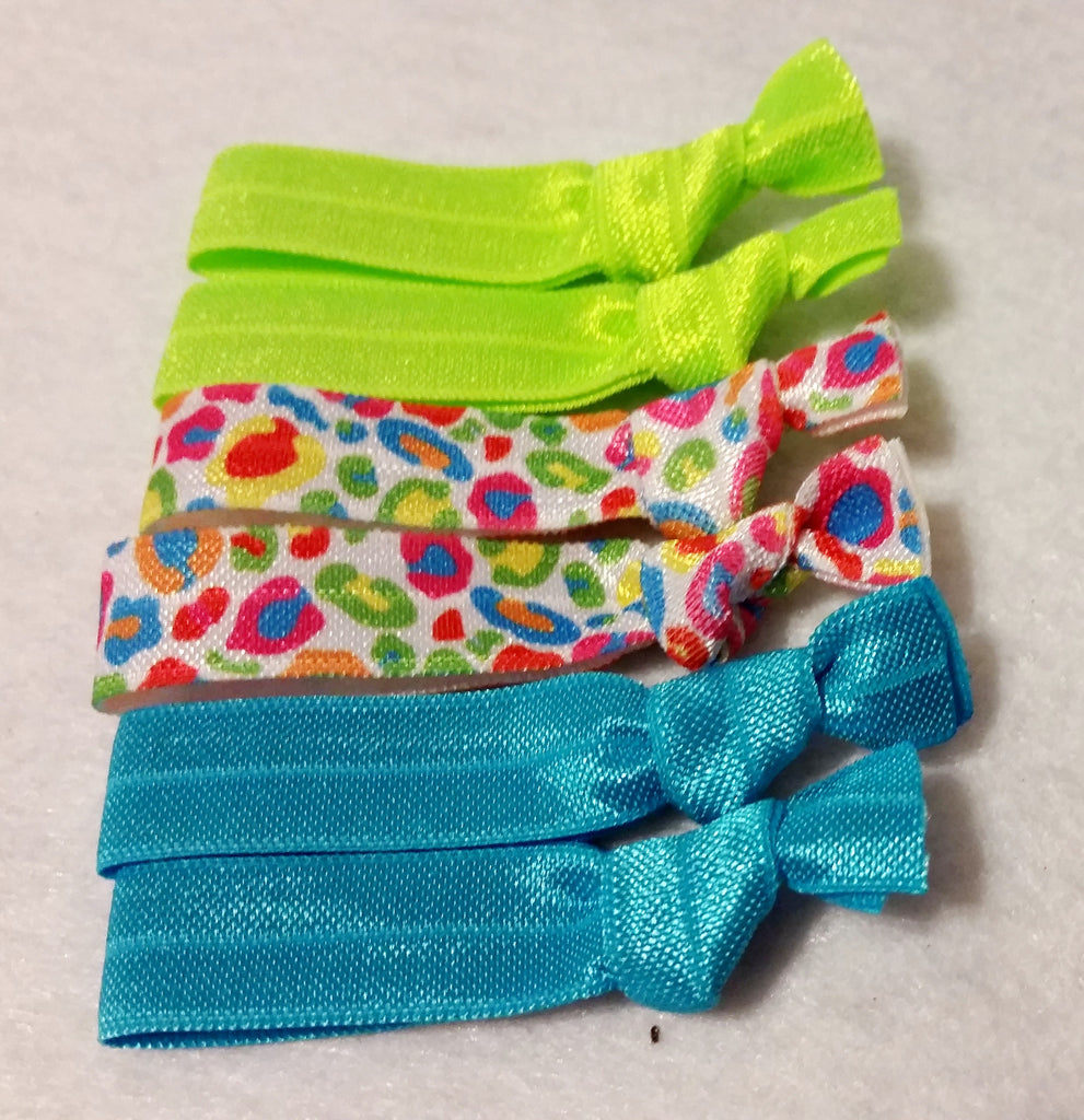 Elastic Hair Tie Set - 6 Pack