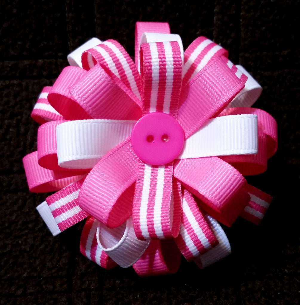 Flower Loop Stacked Hair Bow