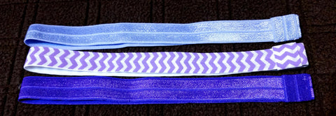 Interchangeable Fold Over Elastic Headband - 3 Pack