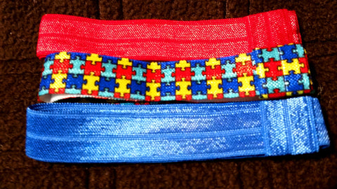 Autism Awareness Elastic Headband Set