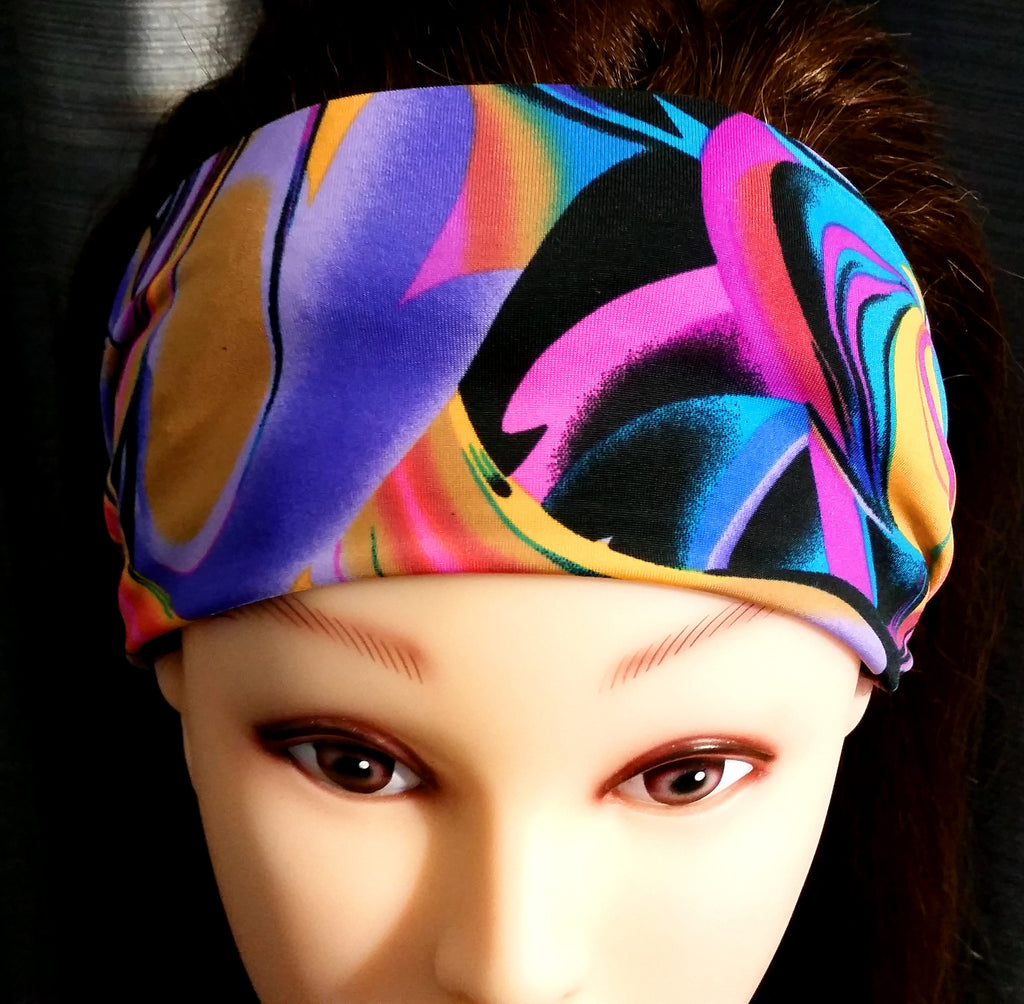 Fitness Headband - Lava Lamp Print