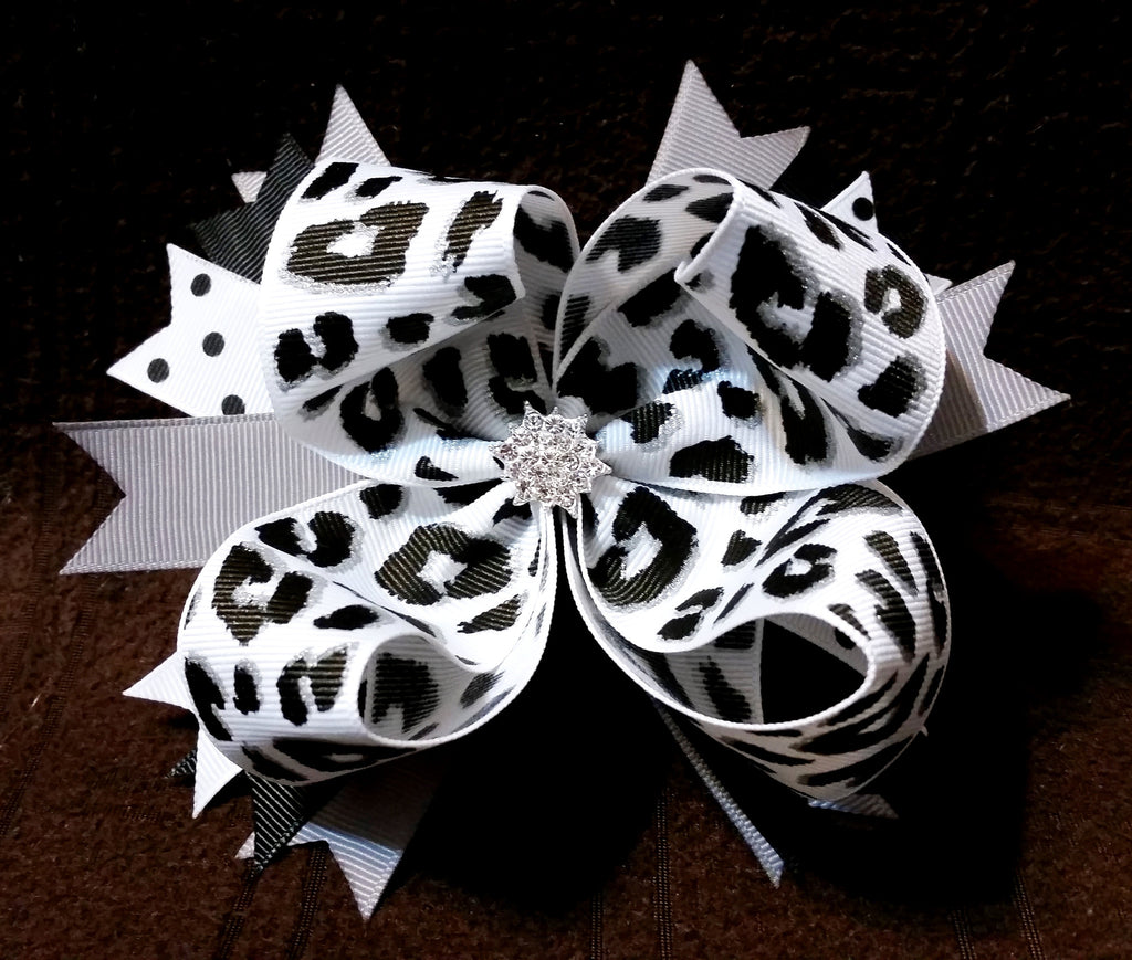 Boutique Hair Bow - Animal Print