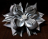Boutique Stacked Hair Bow - Animal Print