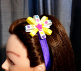 Flower Loop Hair Bow & Headband Set