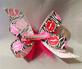Boutique Twisted Hair Bow with Tulle
