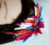 Korker Hair Bow - Twisted Korker Hair Bow, Curly Korker Bow