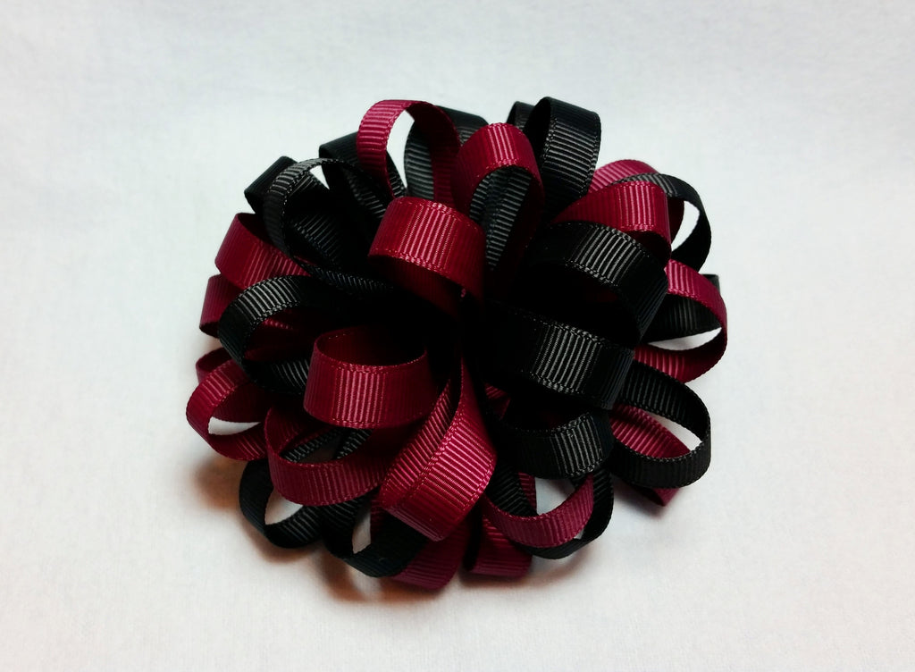 Boutique Hair Bow Puff - Team Spirit