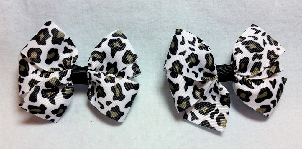 Boutique Mini Hair Bow Set - Animal Print