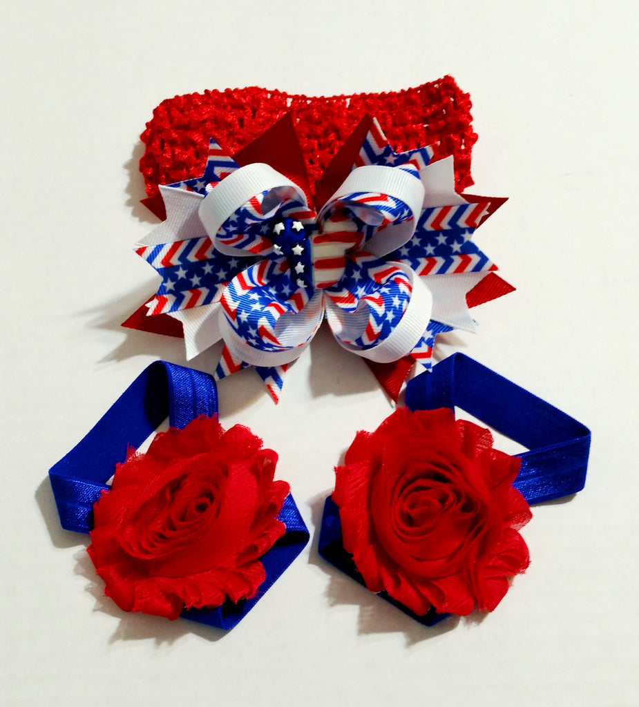Hair Bow, Headband, Sandal Sets