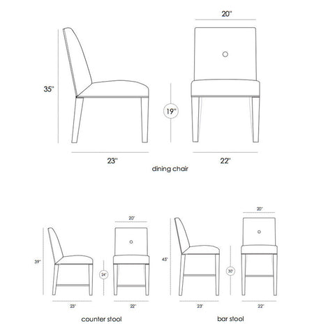 Dining Chairs Barstools Joel Dessaules Design
