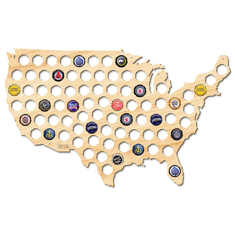 Beer Cap Map of USA - Large