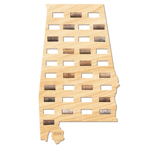Alabama Wine Cork Map