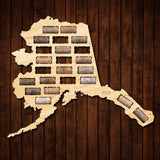 Alaska Wine Cork Map