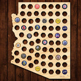 Arizona Beer Cap Map - Large