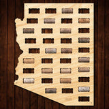 Arizona Wine Cork Map
