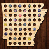 Arkansas Beer Cap Map - Large