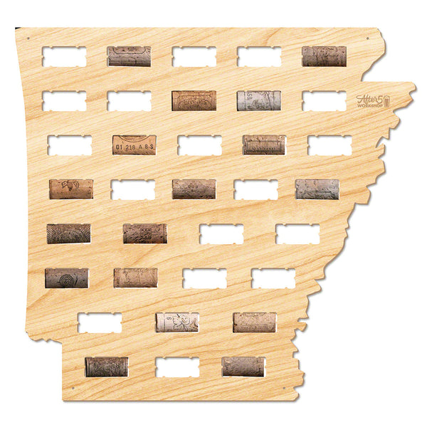 Arkansas Wine Cork Map