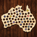 Australia Beer Cap Map - Large