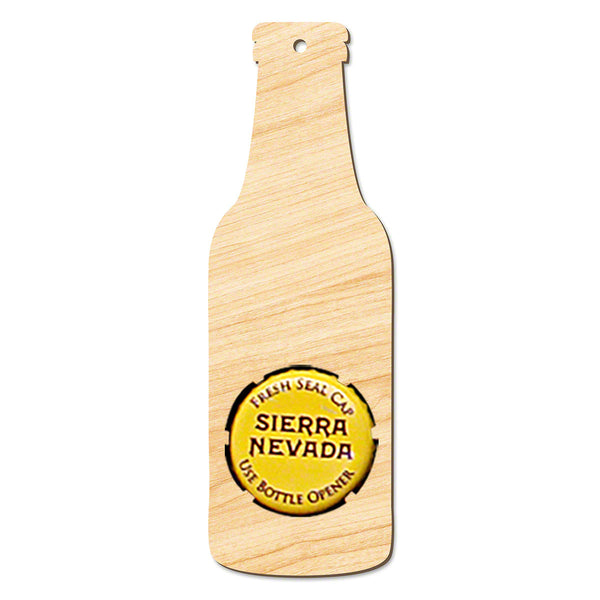 Beer Bottle Wooden Christmas Ornament