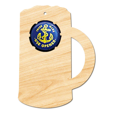 Beer Mug Wooden Christmas Ornament