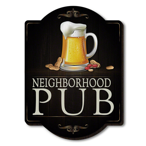 Beer & Nuts Wooden Pub Sign Wall Decor