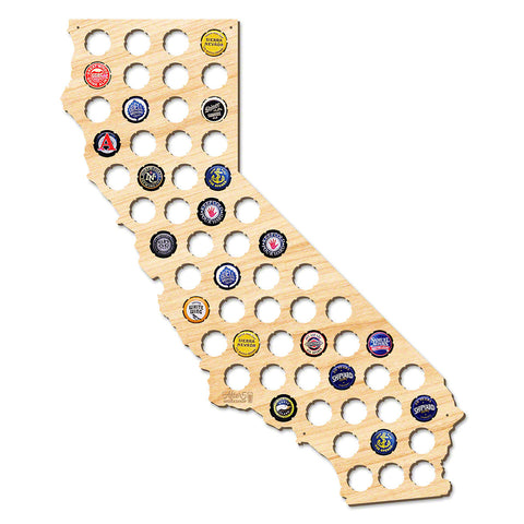California Beer Cap Map - Large