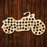 Easy Rider Motorcycle Gifts Beer Cap Map