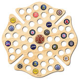 Firefighter Maltese Cross Beer Cap Map with Color Medallion