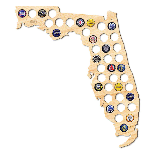 Florida Beer Cap Map - Large