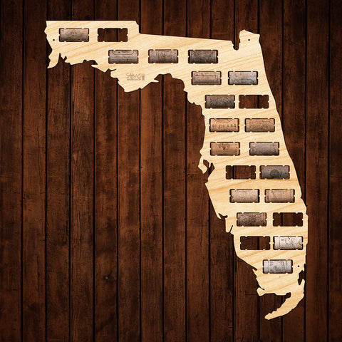 Florida Wine Cork Map