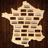 France Wine Cork Map