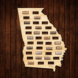 Georgia Wine Cork Map