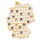 Beer Cap Map of Germany