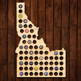 Idaho Beer Cap Map - Large