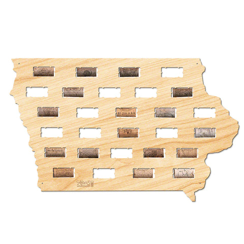 Iowa Wine Cork Map